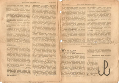 Biuletyn Informacyjny, Polish Home Army, 25 February, 1943 - The Jews Resist.