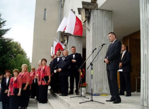 August 27, 2006. Unveiling of the Danuta Siedzikowna, Inka Monument in Narewka, Poland.
