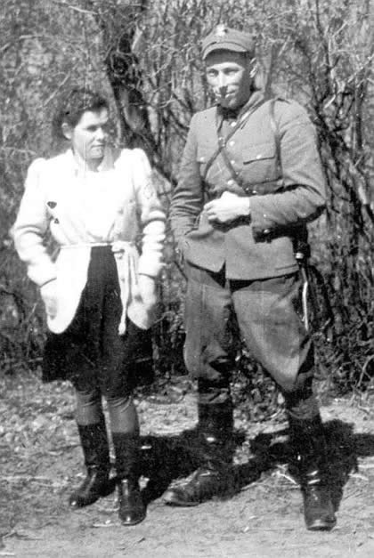 "Lucjan with his wife Wanda vel. ""Danuta"""