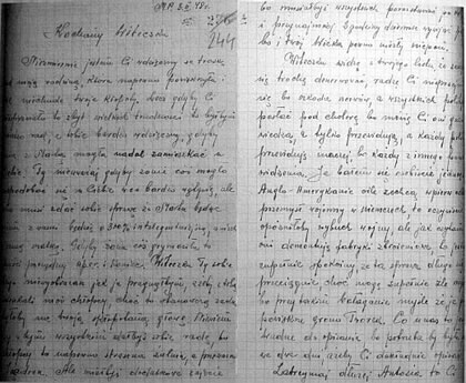 Letters from the Underground: Wladek's letter to Lucjan from April 1948