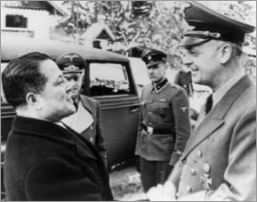 Japanese ambassador to Germany Baron Oshima meeting with Nazi foreign minister Joachim von Ribbentrop.