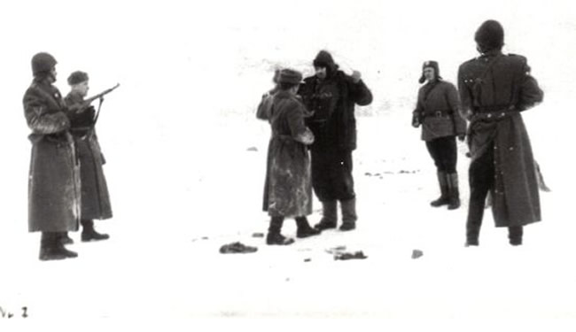 "The capture of Michal Krupa ""Wierzba"" on February 11, 1959 by Polish secret police in Kulino."