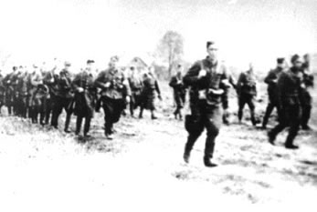 Home Army Soldiers on the march in July 1944 in Puszcza Rudnicka