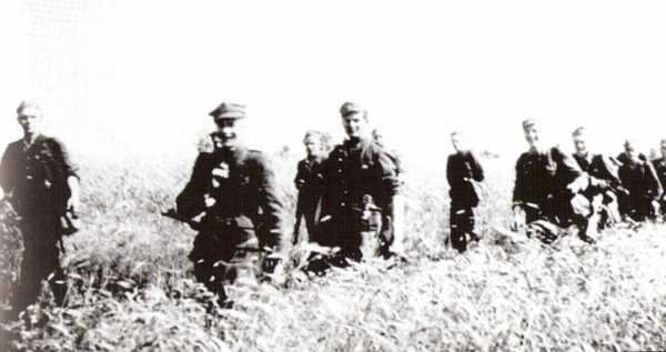 The 1st Squadron of the 5th Vilnius Brigade on the move; summer 1945.