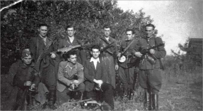 Unidentified Patrol Unit from the NZW District XXIII in the Northern Mazovia area, operating in the Plonsk, Plock, Sierpiec, Lipno, Rypin Counties around 1948.