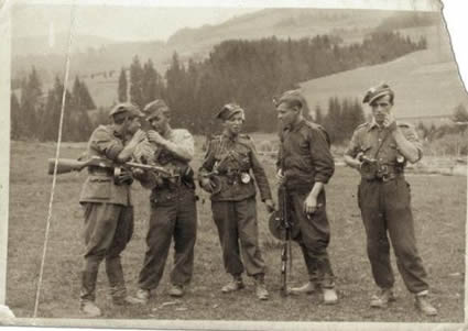 "Soldiers from the III Company of Home Army / ROAK ""Wirusy"" partisan Unit."