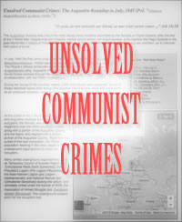 Unsolved Communist Crimes: The Augustow Roundup.