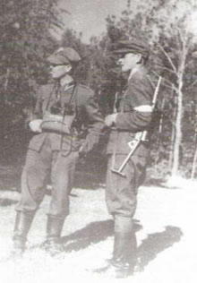 "Above: Major Hieronim Dekutowski, nom de guerre ""Zapora"" with Polish secret police informer ""Opal"" in 1945."